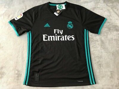 Cristiano Ronaldo Real Madrid Soccer Team New Men Away Black Jersey - Size M
