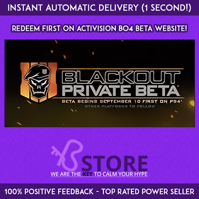 Black Ops 4 Beta-Early Access Key - Call of Duty BO4 PC PS4 Xbox One - Worldwide