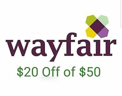 20 off 50 Wayfair for new customers only FAST SHIP