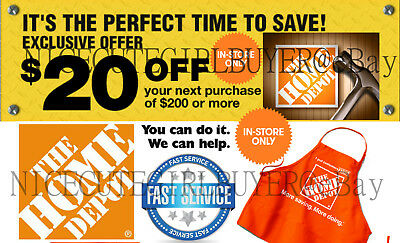 Home Depot 20 off 200 Couponn for In Store Use RELIABLE SERVICE