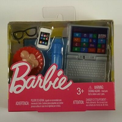 Barbie Tech and School Accessories Laptop Computer Smartphone Eyeglasses NEW