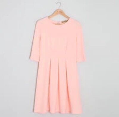 BNWT Carraig Donn Pink Pleated Dress Size S-M or 10 - 14 Kate Middleton style