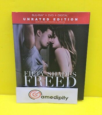 FIFTY SHADES FREED Unrated Edition BLU-RAY DVD DIGITAL - NEW SEALED AUTHENTIC