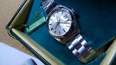 MENS 1972 ROLEX OYSTERDATE PRECISION in SUPERB W ORDER and CONDITION with BOXES-