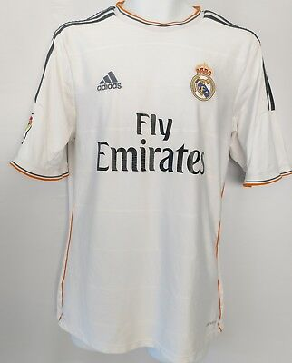 Adidas Climacool Real Madrid Mens White Soccer Football Jersey Medium