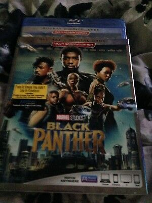 Black Panther Blu Ray - Digital hd 2018 With Slipcover