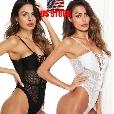 New Womens Sexy Ladies Mesh Bodysuit Fashion Jumpsuit Fit Leotard Vest Tops