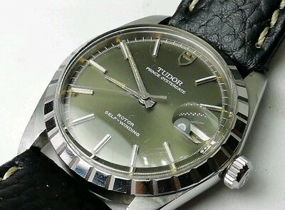 Tudor Prince Oysterdate Rolex Olive Vintage Dial Tropical Oyster Datejust Fluted
