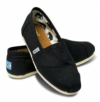 Toms Classic Slip On Black Womens Shoes