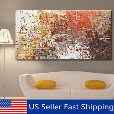 Large Modern Abstract Oil Canvas Print Painting Picture Home Wall Decor Unframed