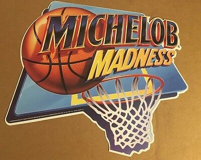 Maichelob Beer March Madness NCAA 1994 Basketball Hoop Poster