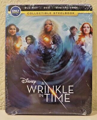 A Wrinkle in Time - Collectible STEELBOOK Blu-ray-DVD-Digital 2018 BRAND NEW