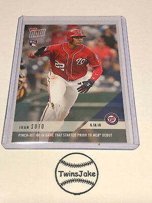 2018 Topps NOW MLB 337 Juan Soto Pinch-Hit HR Game Started Prior to MLB Debut