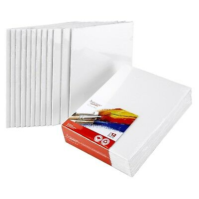Artlicious - CANVAS PANELS 12 PACK - 8X10 SUPER VALUE PACK Artist Canvas Pa-
