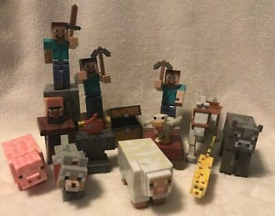 Minecraft Action Figures Toy Block Animals People Accessories large lot