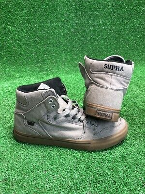 SUPRA Mens Gray Sky Top Sneakers Skateboard Shoes Size 10-5 US 44-5 EU Preowned