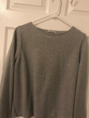 ZARA TRAFALUC Sweatshirt - light grey - casual - Size Small