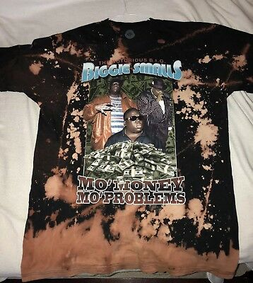 Biggie Smalls Bleached T-Shirt Design  Worn  Large