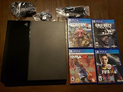 Sony PlayStation 4 - 500GB Jet Black Console with 4 Games