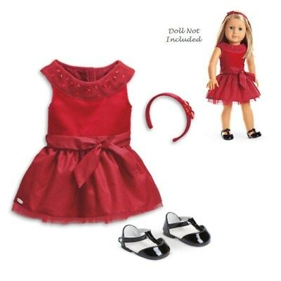 American Girl Truly me Joyful Jewels Outfit for 18 Dolls Red Dress