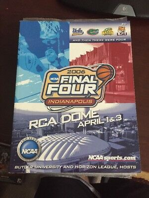 2006 Final Four March Madness Program Florida UCLA George Mason LSU