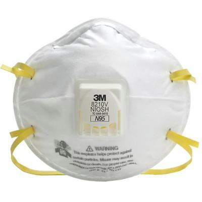 3M 8210V N95 Particulate Respirator Masks WExhalation Valve- Various Quantities