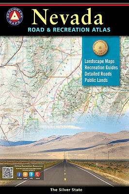 National Geographic Benchmark Nevada NV Road - Recreation Atlas Map BE0BENNVAT