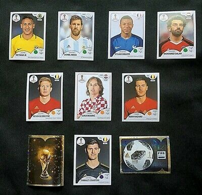 Panini FIFA World Cup Russia 2018 - Pick 10 Stickers New Low Price