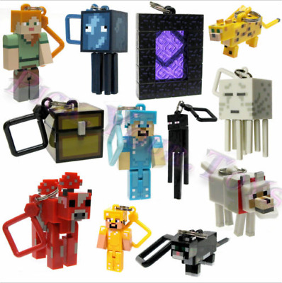 Minecraft Series 2 Hangers Keyring Keychain Toy 10 PCS Figures Gifts