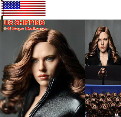 US 16 Scarlett Johansson Black Widow Female Women HeadSculpt Fit 12 Figure Toy