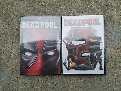 Deadpool 1 and Deadpool 2 DVD 2018 Movie Bundle Combo New Free Shipping