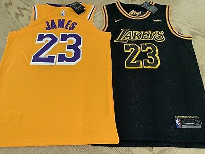 LeBron James Lakers Jersey Los Angeles Home - Away Gold - Black 23 LBJ STITCHED