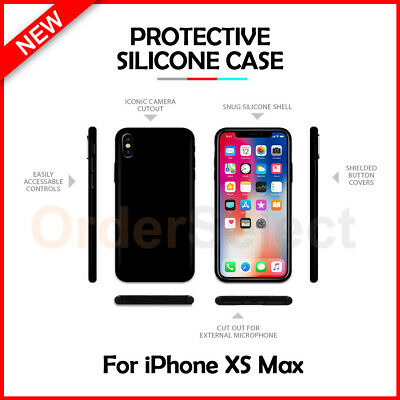 Ultra Slim Protector Plastic Phone Case BLACK for Apple iPhone XS MAX
