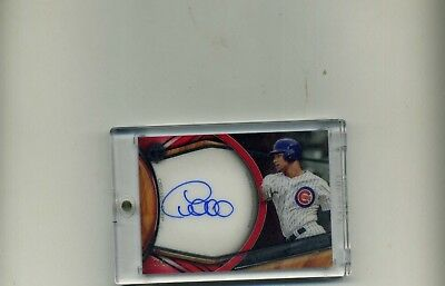 2018 Topps Tribute Willson Contreras Red Parallel Acetate Autograph 48-Tough