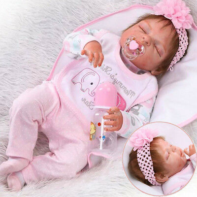 22 Full Body Silicone Vinyl Reborn Doll Lifelike Anatomically Correct Baby Girl