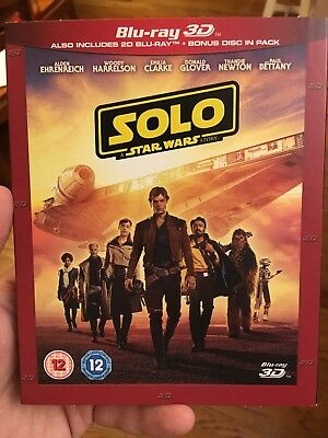 SOLO A STAR WARS STORY 3D  2D Blu-ray PRE-ORDER - SHIPS FROM US SELLER BY 103