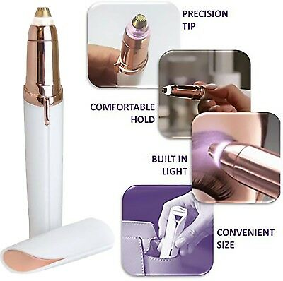 Flawless Womens Brows Painless  Trimmer Electric Eyebrow Hair Remover LED Light