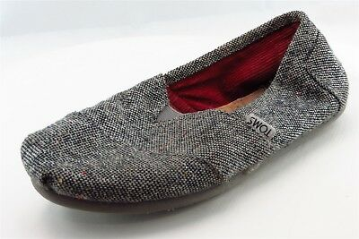 Toms Loafers Gray Fabric Women Shoes Size 6-5 Medium B M