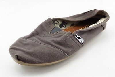 Toms Loafers Gray Textile Women Shoes Size 8 Medium B M