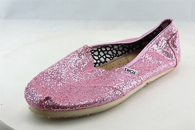 Toms Loafers Pink Textile Women Shoes Size 9-5 Medium B M