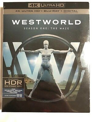 WESTWORLD  SEASON ONE  THE MAZE  4K Ultra HD - Blu-Ray - Digital New Sealed