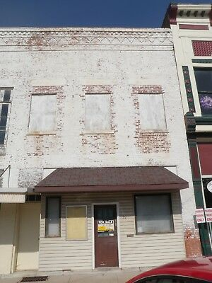 NO RESERVE 2 Story Brick Commercial Bldg- in IL UP FOR AUCTION