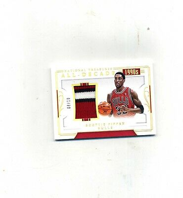 2017-18 Panini National Treasures Scottie Pippen Gold  Decade 3 Clr Patch 810