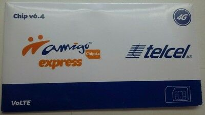 Telcel Sim Card for UNLIMITED callsSMS within Canada USA and Mexico WA FB TW
