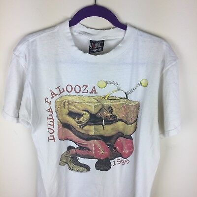 Vintage LOLLAPALOOZA t Shirt Size L 1995 sonic youth hole cypress hill vtg 90s