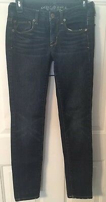 American Eagle Outfitters Women's  Skinny Stretch AEO Jeans size 2 Dark Wash