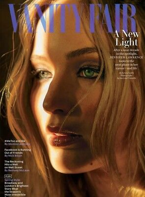 Vanity Fair Magazine Jennifer Lawrence Red Sparrow MeToo Women's March 2018