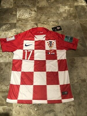 Croatia Jersey World Cup Final 2018 Special Edition Mario Mandzukic Mens Small