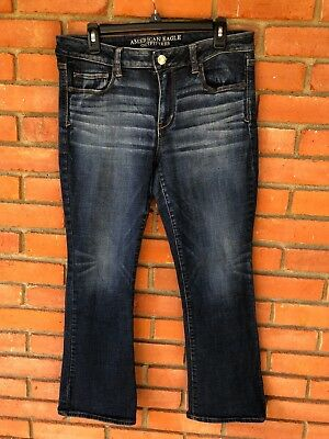 AEO American Eagle Outfitters Denim Jeans Skinny Kick Super Stretch - 14 Short