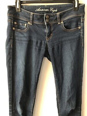 Womens Size 4 American Eagle Outfitters Skinny Jeans Dark Wash